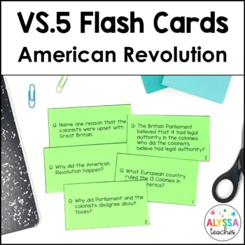 Virginia in the American Revolution Flash Cards (VS.5)
