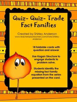 Quiz-Quiz-Trade for Fact Families