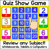 Quiz Show Game for Smartboards and Whiteboards - Back to S
