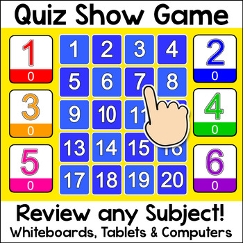 Quiz Show Review Game for Smartboards - Fun Test Prep East