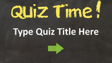 Quiz Template Editable PowerPoint Interactive
