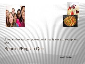 Quiz-Vocabulary-Spanish/English