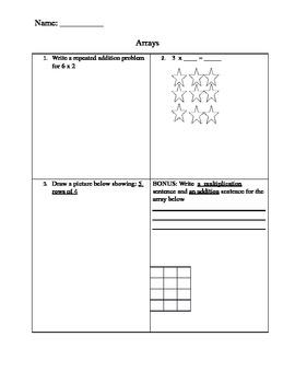 Quiz for Arrays