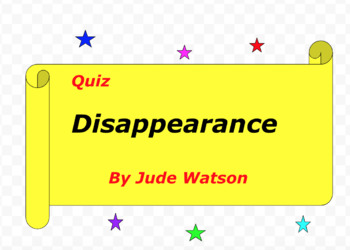 Quiz for Disappearance by Jude Watson