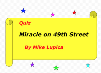 Quiz for Miracle on 49th Street by Mike Lupica