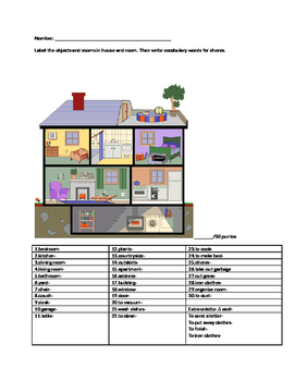 Quiz house Realidades Spanish 1 or other World Languages