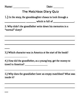 Quiz on The Matchbox Diary