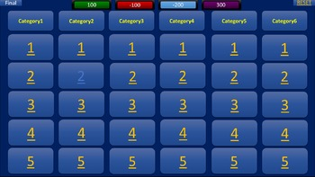 Quizardy - Jeopardy style quiz review for the classroom (l