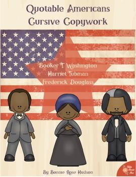 Quotable Americans Copywork-Cursive Style