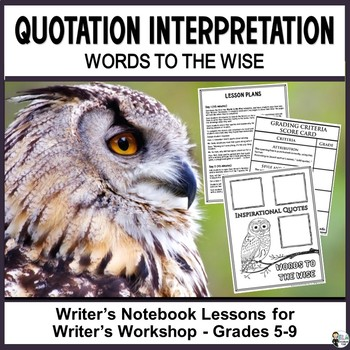 Quotation Interpretation: Words to the Wise Journaling and
