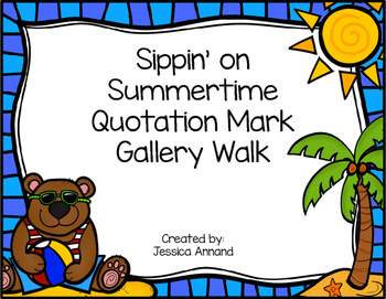 Quotation Mark Gallery Walk / Task Cards