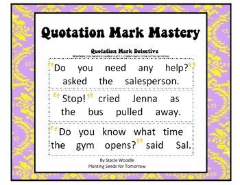 Quotation Mark Mastery