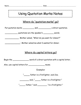 Quotation Mark Notes