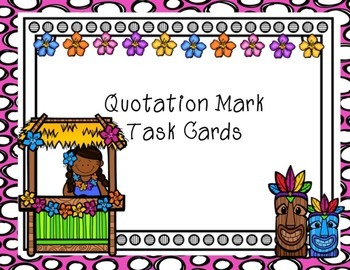 Quotation Mark Task Cards