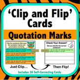 Quotation Marks Task Cards (Clip and Flip)