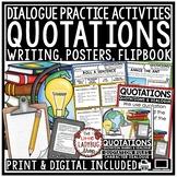 Quotation Marks Activities & Dialogue Writing