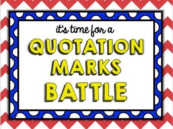 Quotation Marks Battle - Editing Sentences Language Game
