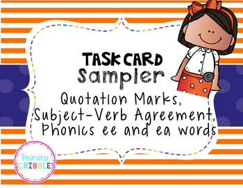Quotation Marks, Subject-Verb Agreement, ee and ea words