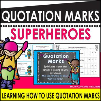 Quotation Marks Superheroes
