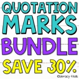 Quotation Marks Task Cards, No Prep Printables, and PowerP