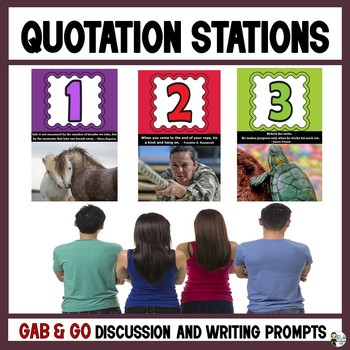 Quotation Stations: Secondary Gab & Go Discussion Prompts
