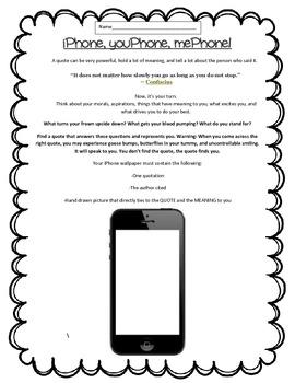 Quotation Thinking - iPhone Activity