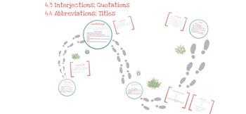 Quotations, Interjections, Abbreviations, and Titles Prezi