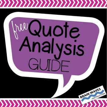 Free Quote Analysis Guide to Help Students Analyze and Int