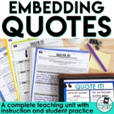 Embedding Quotations: A Common Core Lesson About Writing w