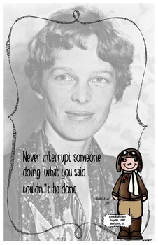 Quote Poster with Amelia Earhart