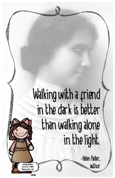 Quote Poster with Helen Keller