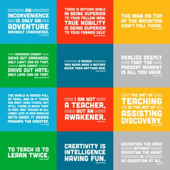 Quote Posters (21 Inspirational Quotations in Color and Bl