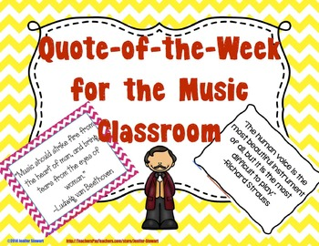 Quote of the Week for the Music Classroom - Chevron & Blac
