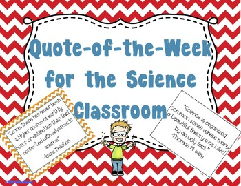 Quote of the Week for the Science Classroom (Chevron & Bla