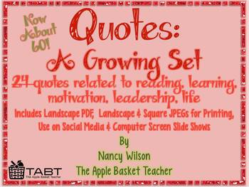 Quotes: A Growing Set