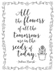 Coloring Pages for Teachers - Flowers Theme
