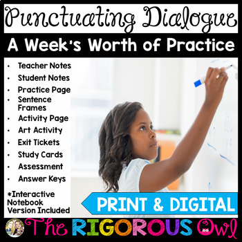 Quotes Punctuating Dialogue Week Long Lessons! Common Core