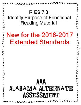 R 7.3 Functional Reading Material  NEW Extended Standards AAA