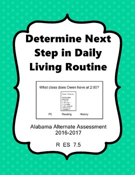 R 7.5 Determine What Comes Next Daily Task//Schedule NEW E