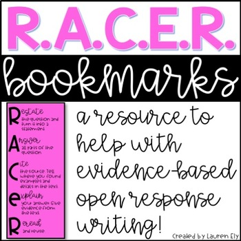 R.A.C.E.R Bookmarks - Evidence-Based Open Response Writing