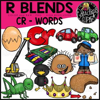R Blends CR Words Clip Art Bundle