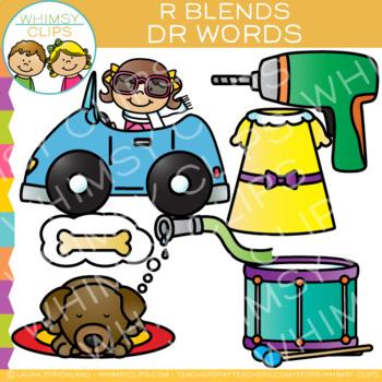 R Blends Clip Art - DR Words