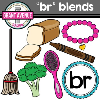 R Blends Clipart - BR Words Clipart