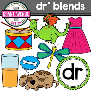 R Blends Clipart - DR Words Clipart