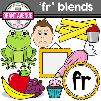 R Blends Clipart - FR Words Clipart
