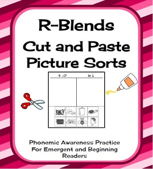 R-Blends Cut and Paste Picture Sorts Phonics / Phonemic Aw