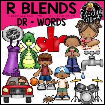 R Blends DR Words Clip Art Bundle {Educlips Clipart}
