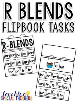R Blends Flipbook Tasks