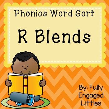 R Blends- Word Sort, Comprehension Stories, Graphs, and More