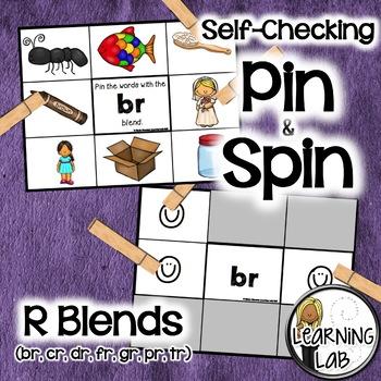 R Blends (br, cr, dr, fr, gr, pr, tr) - A Pin & Spin Activity